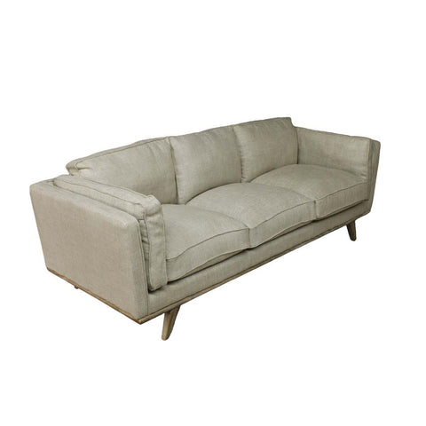 Imported white linen sofa with Oak legs and sprung base, sold by vintage-etc in cape town. We make custom made & bespoke tables, benches, free-standing kitchen islands, desks, media units & wardrobes in our Cape Town & Johannesburg workshops – using Oak, Oregon, Ash, Beech, Birch Ply & Meranti. We also sell imported furniture, provide design consulting services & make soft furnishings e.g. sofas & upholstered chairs in linen, velvet & stain resistant fabric.
