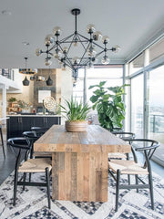 rustic t dining table