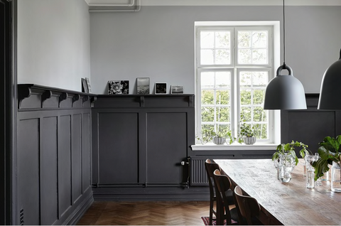Deep grey architraves and skirting.  Interior Design blog about how Europe does accent colours through two-toned cabinetry, accent ceiling and deep, dark doorways, skirting and architraves. Get the look with Vintage-etc. We make custom made & bespoke tables, benches, free-standing kitchen islands, desks, media units & wardrobes in our Cape Town & Johannesburg workshops - using Oak, Oregon, Ash, Beech, Birch Ply & Meranti. We also sell imported furniture, provide design consulting services & make soft furnishing e.g. sofas & upholstered chairs in linen, velvet & stain resistant fabric