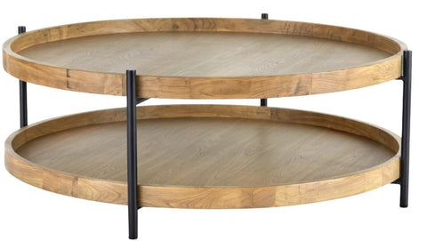 Bespoke Solid Oak and matte black powder-coated/tubular metal round coffee table, custom made by vintage-etc in cape town. We make custom made & bespoke tables, benches, free-standing kitchen islands, desks, media units & wardrobes in our Cape Town & Johannesburg workshops – using Oak, Oregon, Ash, Beech, Birch Ply & Meranti. We also sell imported furniture, provide design consulting services & make soft furnishings e.g. sofas & upholstered chairs in linen, velvet & stain resistant fabric.