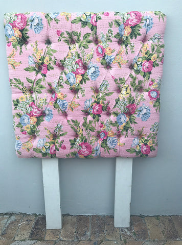 Floral single bed headboard