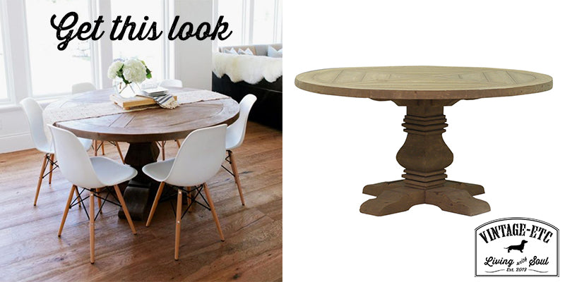 Get this look with Benjaman Round Dining Table