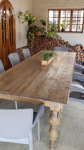 teak boat wood dining table