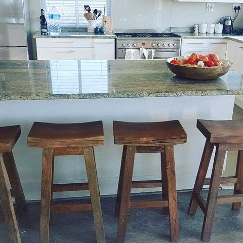 Butt style bar stools