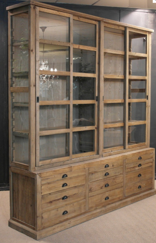 Bespoke stylish and versatile rustic lime-washed Pine or solid Oak bookcase with glass sliding doors, custom made by vintage-etc in cape town. We make custom made & bespoke tables, benches, free-standing kitchen islands, desks, media units & wardrobes in our Cape Town & Johannesburg workshops – using Oak, Oregon, Ash, Beech, Birch Ply & Meranti. We also sell imported furniture, provide design consulting services & make soft furnishings e.g. sofas & upholstered chairs in linen, velvet & stain resistant fabric.