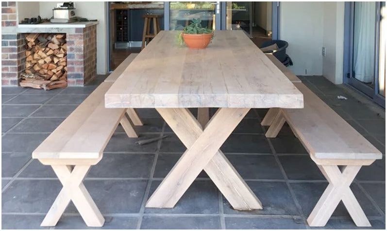 custom made oak table