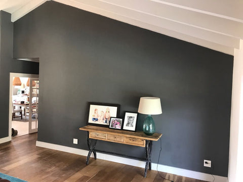 Van Zyl living room renovation after final paint