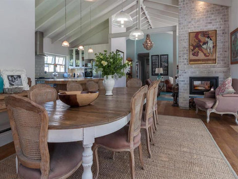 A Recently Refurbished Client Home Is Seen Finished With The Versatile (on  Wheels) Extendable (4 Parts) Josephine Table And Louis Chairs U2013 Constantia,  ...