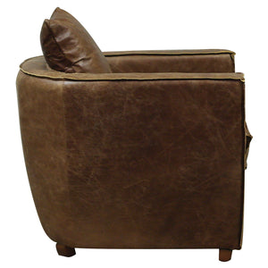 Cinematique leather Armchair side
