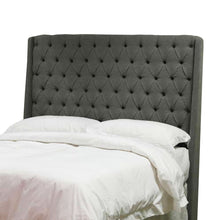 Colette Headboard grey with bed