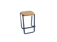 Stacking Barstool - Square Wooden Seat