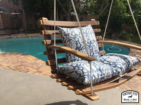 Aruba Outdoor Swing Chair (Oak and Marine Rope)