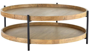 Tali Round Oak Coffee Table