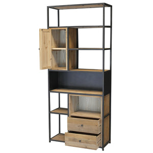 Block Shelf Unit open