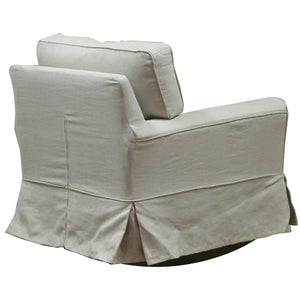 Natural Linen/Cotton rocking armchair - back