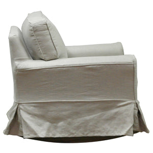 Natural Linen/Cotton rocking armchair - side