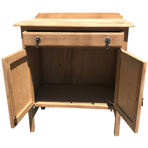 Cotswold Oak Cabinet open