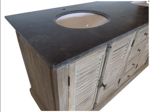 Bridgette Double Basin Vanity Unit top