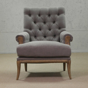 Heidi Armchair - Taupe front