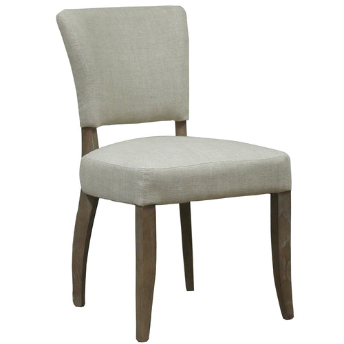 Lacale Chair - Natural Linen & Oak Legs