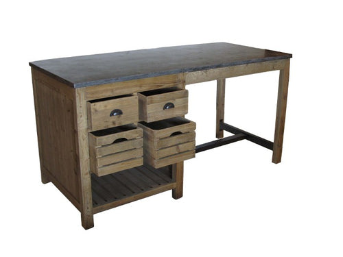 Owen Kitchen Island with Side Cabinet