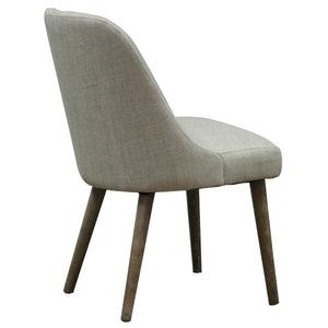 Pia Chair - Natural Linen - back