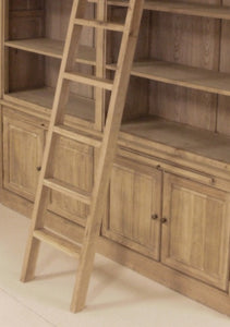 Regina Weathered Oak Bookcase close up