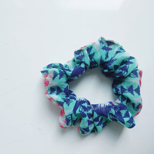 The Scrunchie - Aqua Aztec