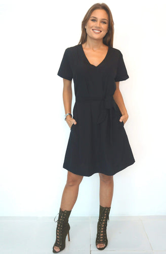 The Anywhere Dress - Midnight Black