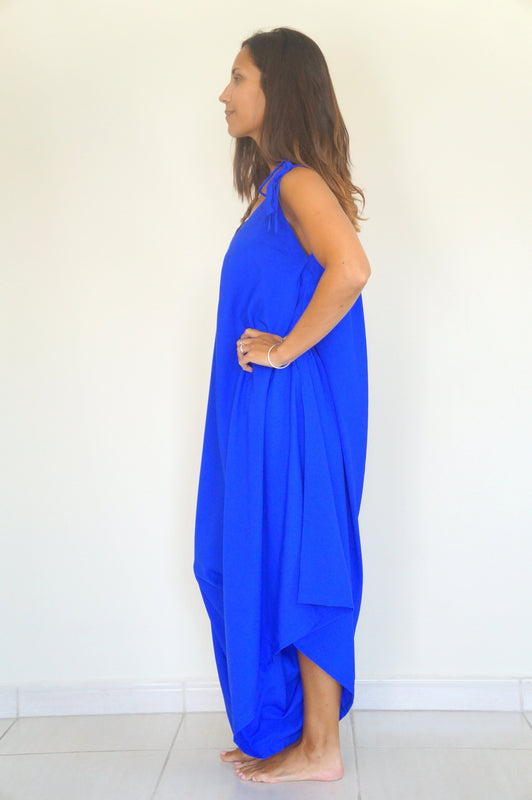 The Harem Jumpsuit - Royal Blue