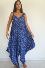 The Harem Jumpsuit - Indigo & White Check Limited Edition print