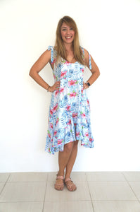 The Harem Dress - Tropical Hibiscus