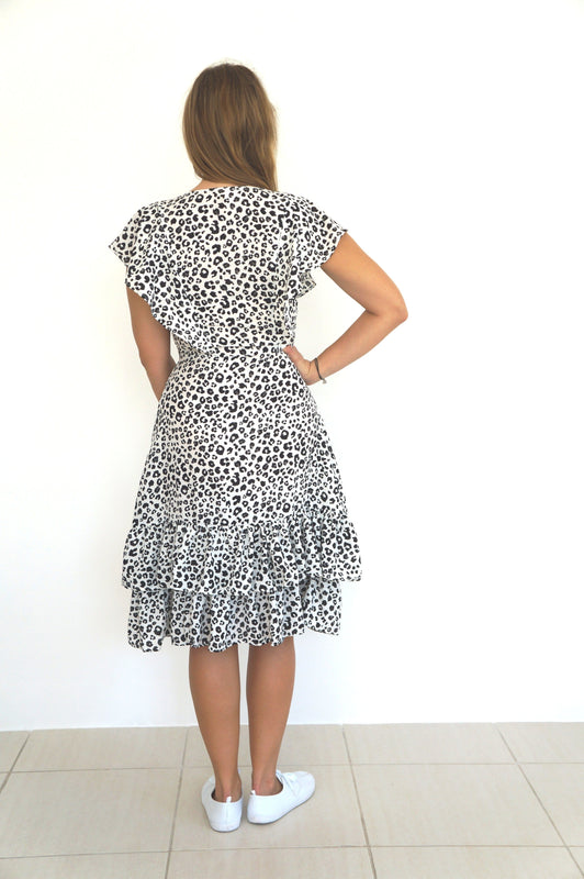 The Weekend Dress - Black Grey Leopard