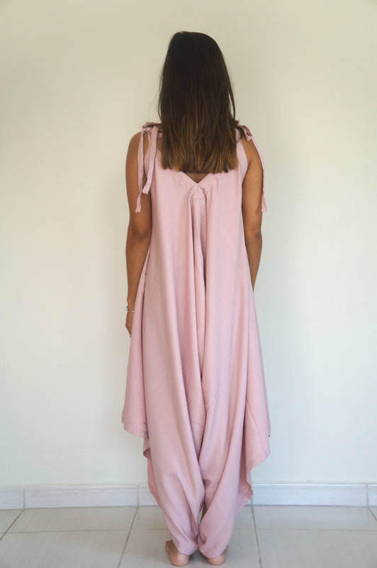 The Harem Jumpsuit - Dusty Pink