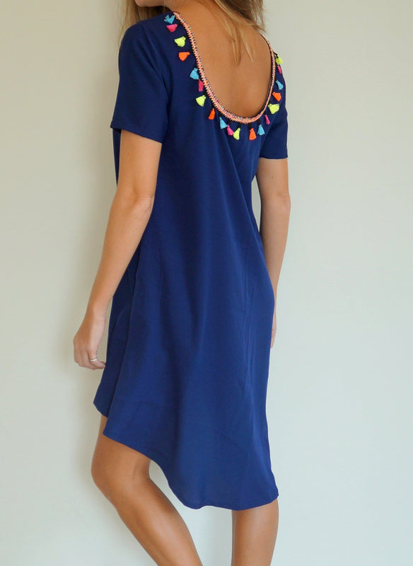 The Anywhere Scoop Dress - Navy