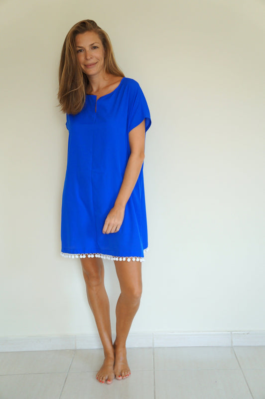 Fitted Kaftan - Royal Blue