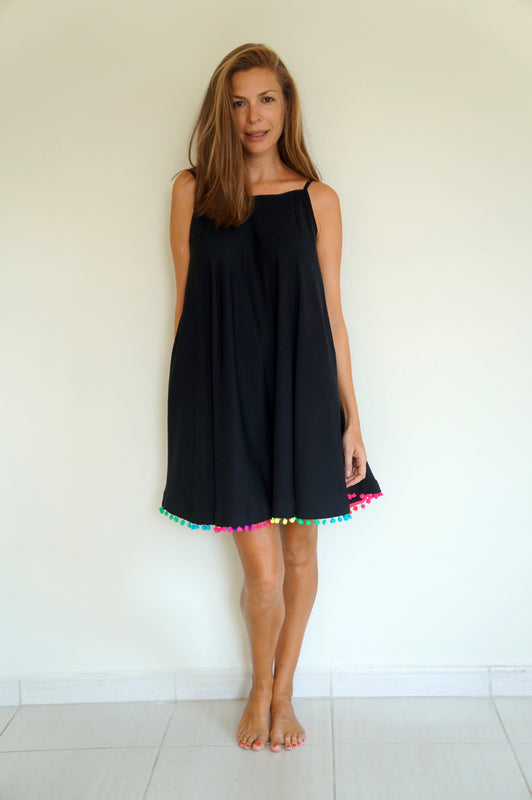 Beach Skater Dress - Black