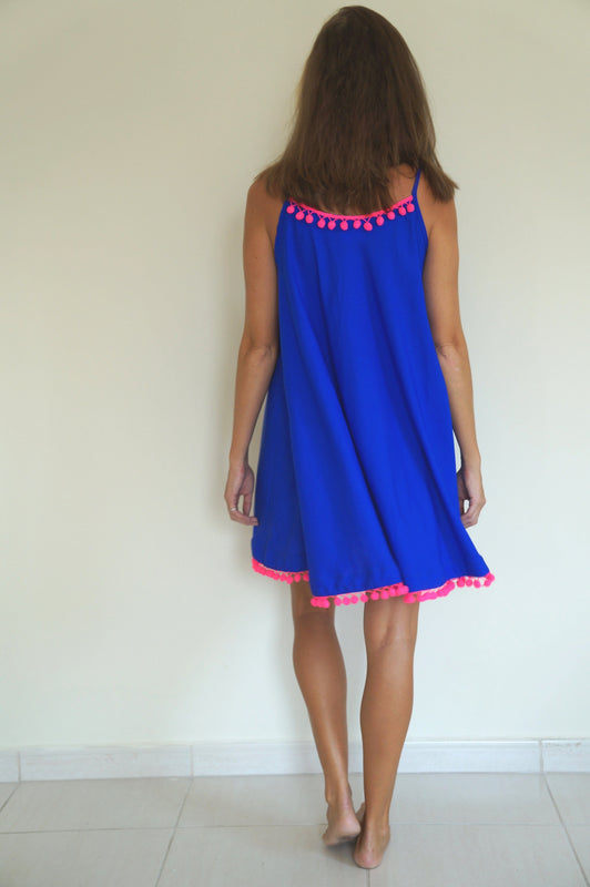 Beach Skater Dress - Royal Blue