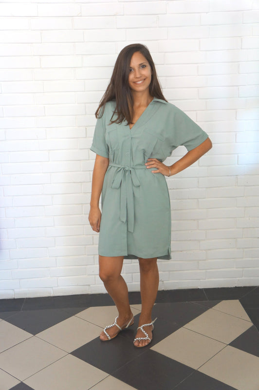 The Shirt Dress - Khaki