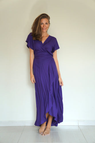 The Wrap dress - Purple Rain