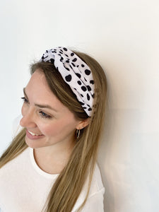 Head Bands - Hand Made - Black & White Smudge