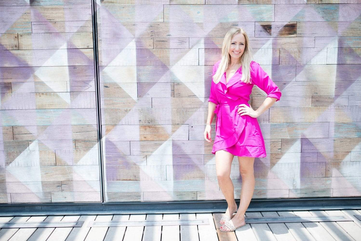 The Flirty Anywhere Dress - Hot Pink