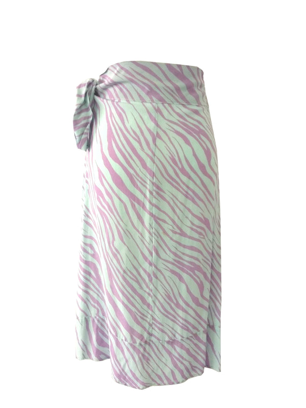 The Ruffle Wrap Skirt -  Aqua, Purple Camouflage