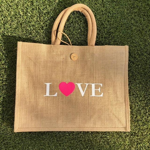Eco Shopper Bag - LOVE print - Available in 14 colours
