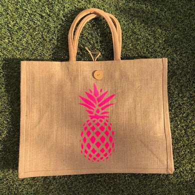 Eco Shopper Bag - Pineapple print - Available in 14 colours