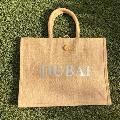 Eco Shopper Bag - DUBAI print - Available in 14 colours