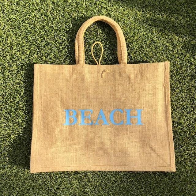 Eco Shopper Bag - BEACH print - Available in 14 colours