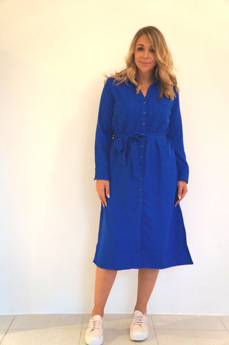 The Midi Shirt Dress - Royal Blue