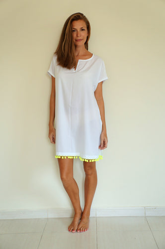 Fitted Kaftan - White