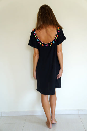 The Anywhere Scoop Dress - Black